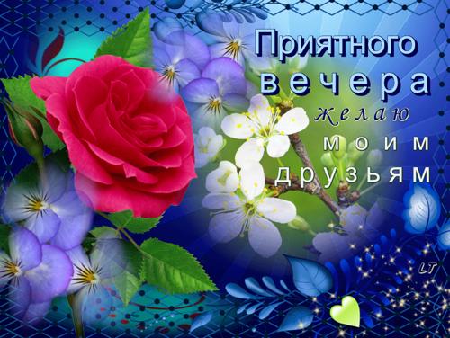Приятного вечера желаю своим друзьям!, Добрый вечер